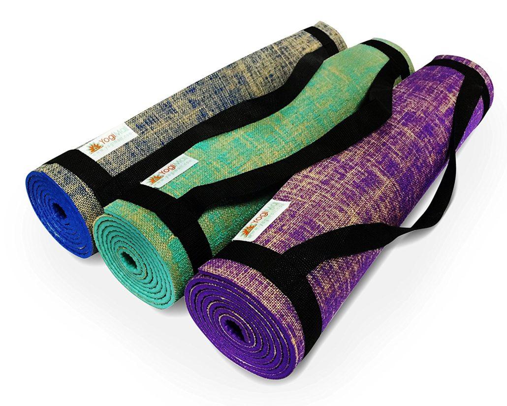 Best Natural Yoga Mat - YogiMall Natural Jute/Eco PVC Mat