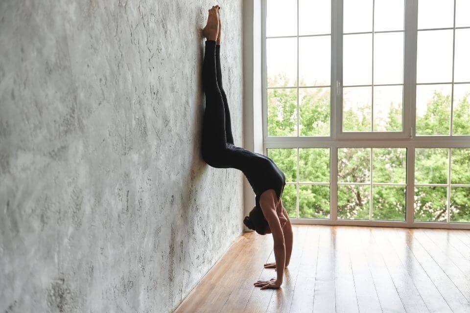 yoga wall pose