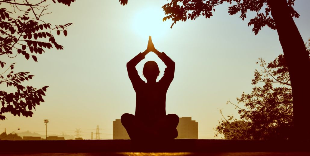 Yoga meditation under the sun